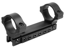 BKL 1-Pc Adjustable Scope Mount, 1 inch Rings, 3/8 inch Dovetail, Black