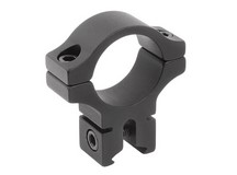 BKL Single 1 inch Ring, 3/8 inch or 11mm Dovetail, 0.60 inch Long, Black