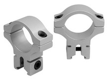 BKL 1 inch Rings, 3/8 inch or 11mm Dovetail, Silver