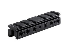 BKL 3/8 inch or 11mm Dovetail to Weaver Adapter, 4 inch Long, Matte Black