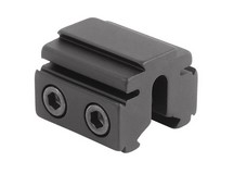 BKL Single 3/8 inch or 11mm Tri-Mount Dovetail Riser Mount, 1 inch Long, Black
