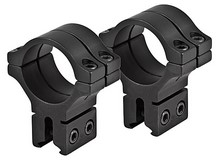 BKL 30mm Rings, 3/8 inch or 11mm Dovetail, Double Strap, Matte Black