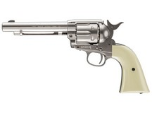 Colt Peacemaker SAA CO2 Revolver, Nickel Air gun