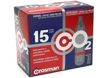 Crosman 12 Gram CO2, 15 Cartridges
