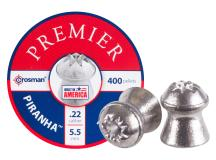 Crosman Premier Piranha .22 Cal, 14.39 Grains, Hollowpoint, 400ct