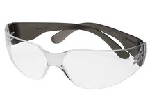 Crosman Safety Glasses, Clear Lens, Black Temples