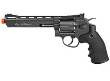 Dan Wesson 6 inch CO2 Airsoft Revolver, Grey Airsoft gun