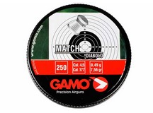 Gamo Match .177 Cal, 7.56 Grains, Wadcutter, 250ct