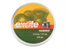 Haendler & Natermann H&N Excite Hammer Pellets, .177 Cal, 7.87 Grains, Domed, 500ct