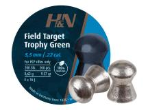 Haendler & Natermann H&N Field Target Trophy Green, .22 Cal, 9.56 Grains, Domed, Lead Free, 200ct