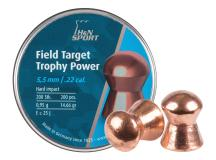 Haendler & Natermann H&N Field Target Trophy Power Copper Plated, .22 Cal, 14.66 Grains, Round Nose, 200ct