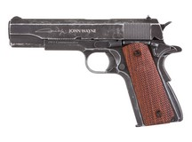 Air Venturi John Wayne 1911 Metal CO2 BB Pistol, Brown Grips Air gun