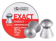 JSB Match Diabolo Exact .177 Cal, 8.4 Grains, Domed, 500ct, 4.52mm