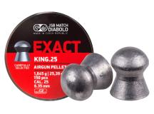 JSB Match Diabolo Exact King .25 Cal, 25.4 Grains, Domed, 150ct