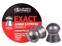 JSB Diablo Exact Jumbo Express .22 Cal, 14.3 Grains, Domed, 250ct