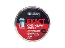 JSB Match Diabolo Exact King MKII Heavy .25 Cal, 33.95 Grains, Domed, 150ct