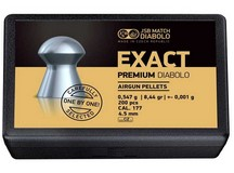 JSB Exact Premium Diabolo, .177 Cal, 8.44 Grains, Domed, 200ct
