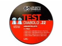 JSB Match Diabolo Test Sampler, .22 Cal, Round Nose & Pointed, 4 Pellet Types, 240ct