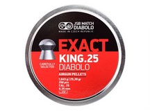 JSB Match Diabolo Exact King .25 Cal, 25.39 Grains, Domed, 350ct
