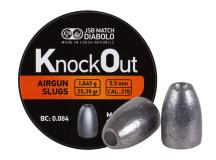 JSB KnockOut Slugs .216 Cal, 25.39gr, Hollowpoint, 200ct