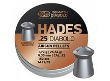 JSB Match Diabolo Hades, .25 Cal, 26.54gr, Pointed 150 ct