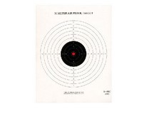National Target Company National Target Single Bull Red Center Air Pistol Target