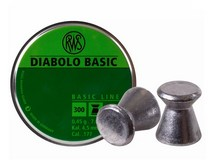 RWS Diabolo Basic .177 Cal, 7.0 Grains, Wadcutter, 300ct