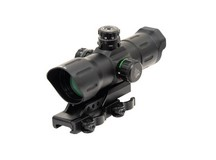 UTG 1x39 6 inch ITA Red/Green CQB Target Dot Sight, 1/2 MOA, Offset Quick-Detach Mount