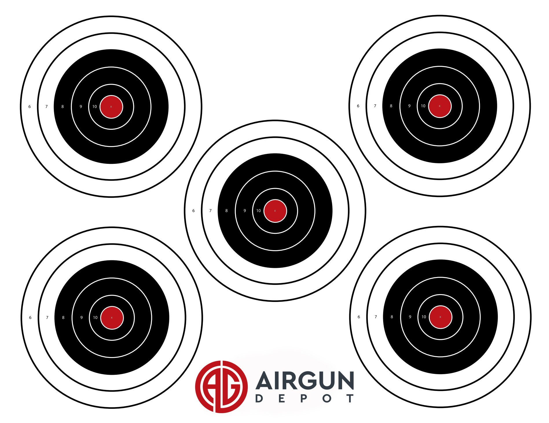 Airgun Depot Large Air Pistol or Air Rifle Targets