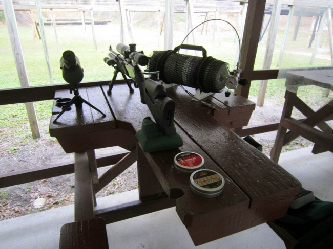 Galatian on the bench, 100 yards to target.