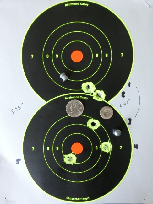 100 yards, group of 5 from 200 bar