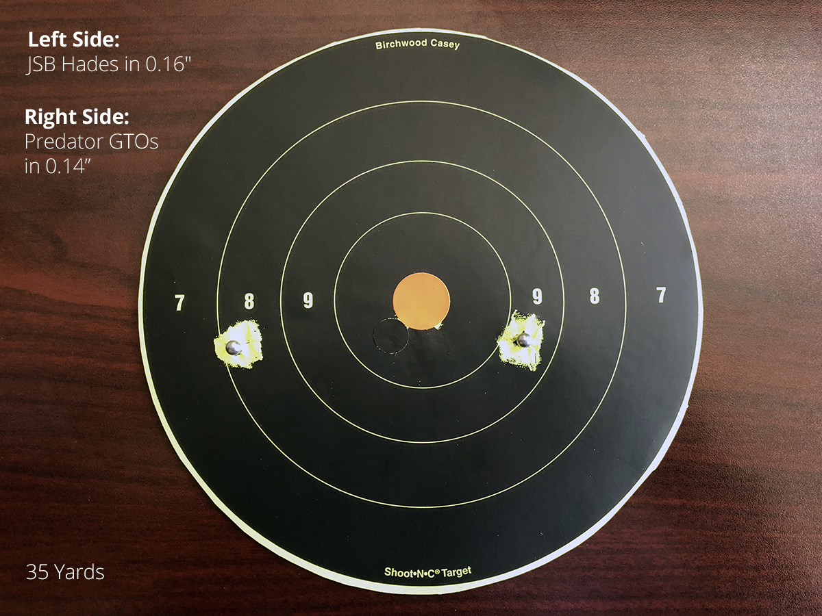 Brocock Bantam Sniper Accuracy at 35 Yards